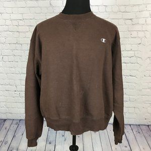 Champion Brown Pullover Crewneck Sweatshirt
